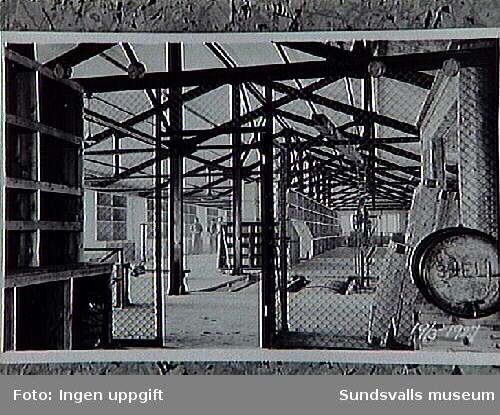 Munksunds sulfatfabrik utanför Piteå 19/3 1927Verner Johnson var med att bygga upp maskinhallen under Sunfeldts ledning.