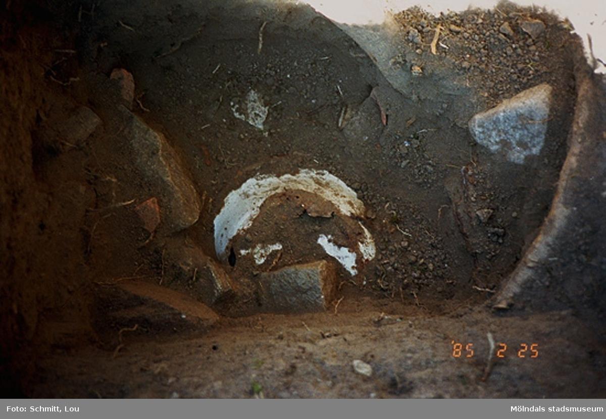 "Drivhuset ""B"", arkeologisk utgrävning vid Gunnebo slott, september 1995."