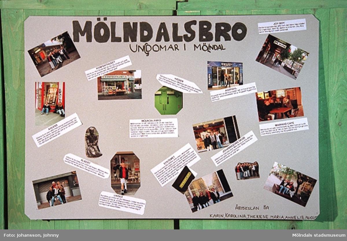 MMF1996:1358-1363 Kvarnbyskolan 9 A. MMF1996:1364-1369 Kvarnbyskolan 9 C.MMF1996:1370-1375 Kvarnbyskolan 9 D. MMF1996:1376-1381 Åbyskolan 8 A.Utställning på Mölndals museum vecka 44 och 45, och i Stadshushallen vecka 46 1996.Se även MMF1996:0913-0940.