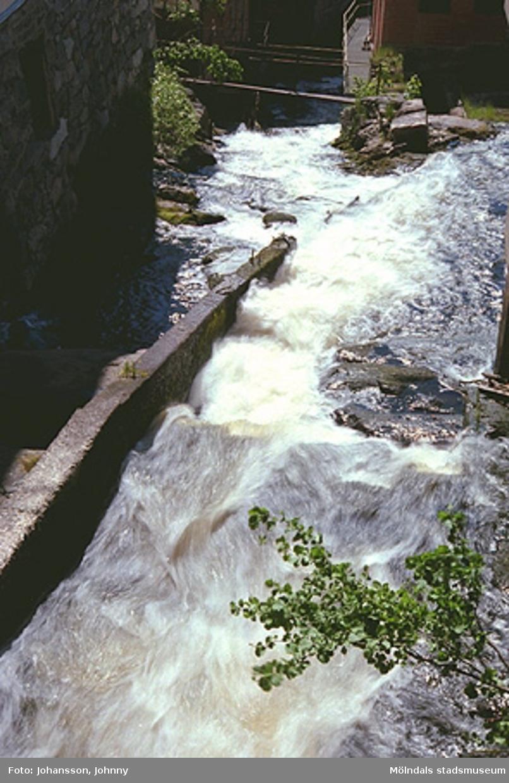Mölndalsfallet sett uppifrån, år 1999