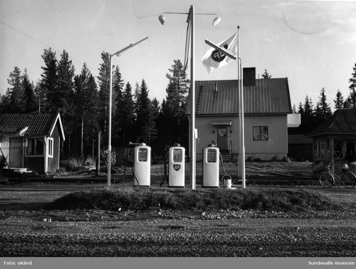 BP-stationen Kölsillre, Ånge. Köpman: Gustaf Engholm.