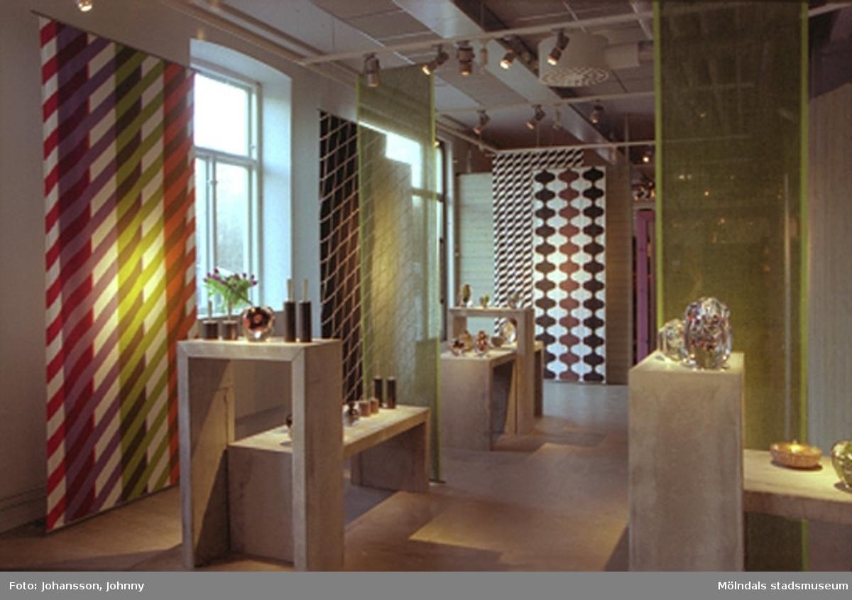 Konstutställningen Glas & Textil på Mölndals museum mellan 17 januari - 22 februari 2004.