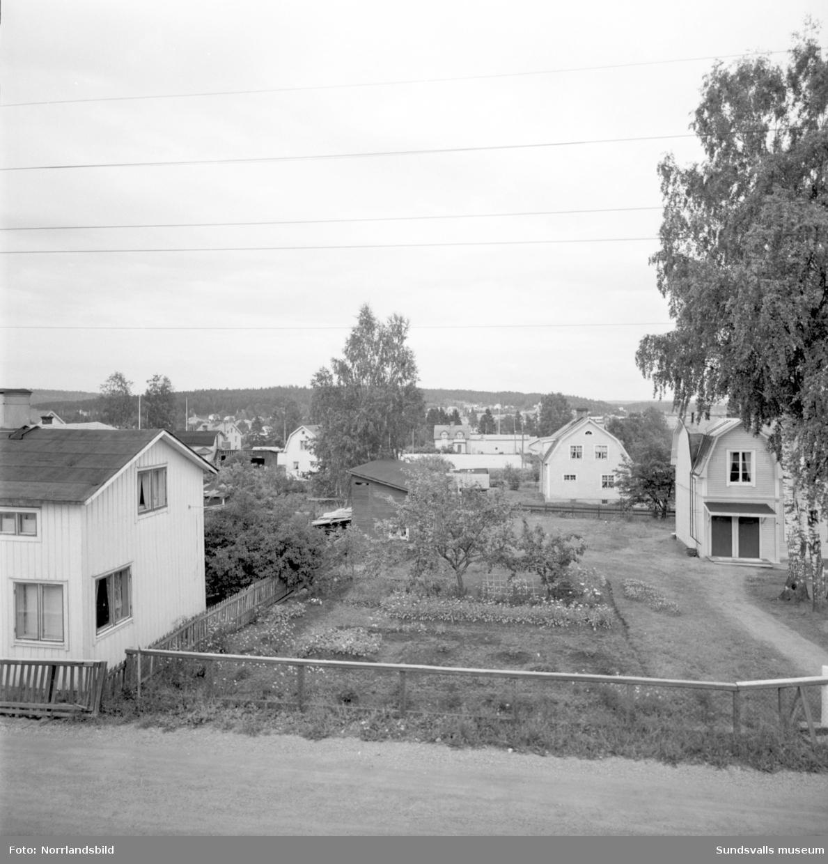 Villaområde på Karl Eriks gata i Skönsberg/Haga som ska saneras.