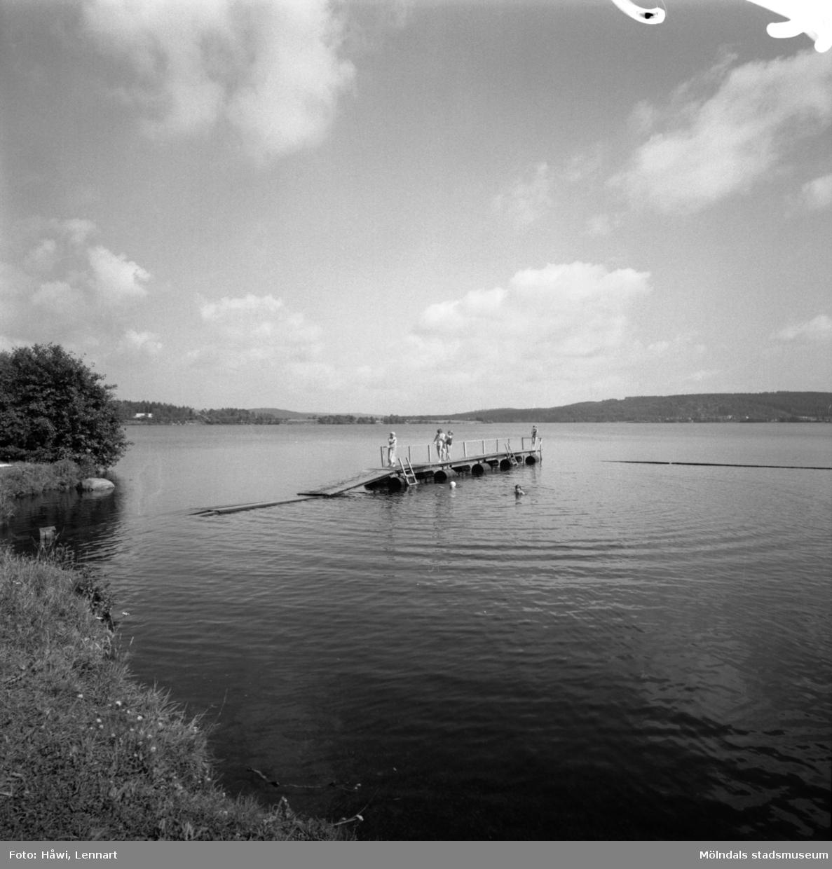 Ätrafors kraftstation, 25/7 1960. Dammen.