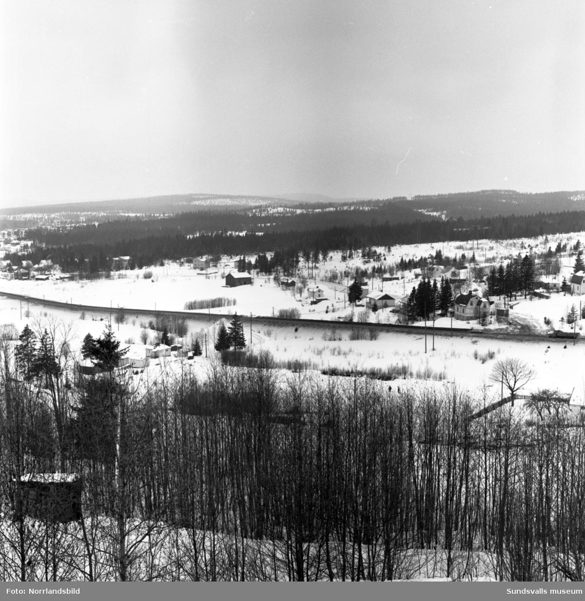 Råstabacken i Bosvedjan innan bygget av nya E4 och bostadsområdet.