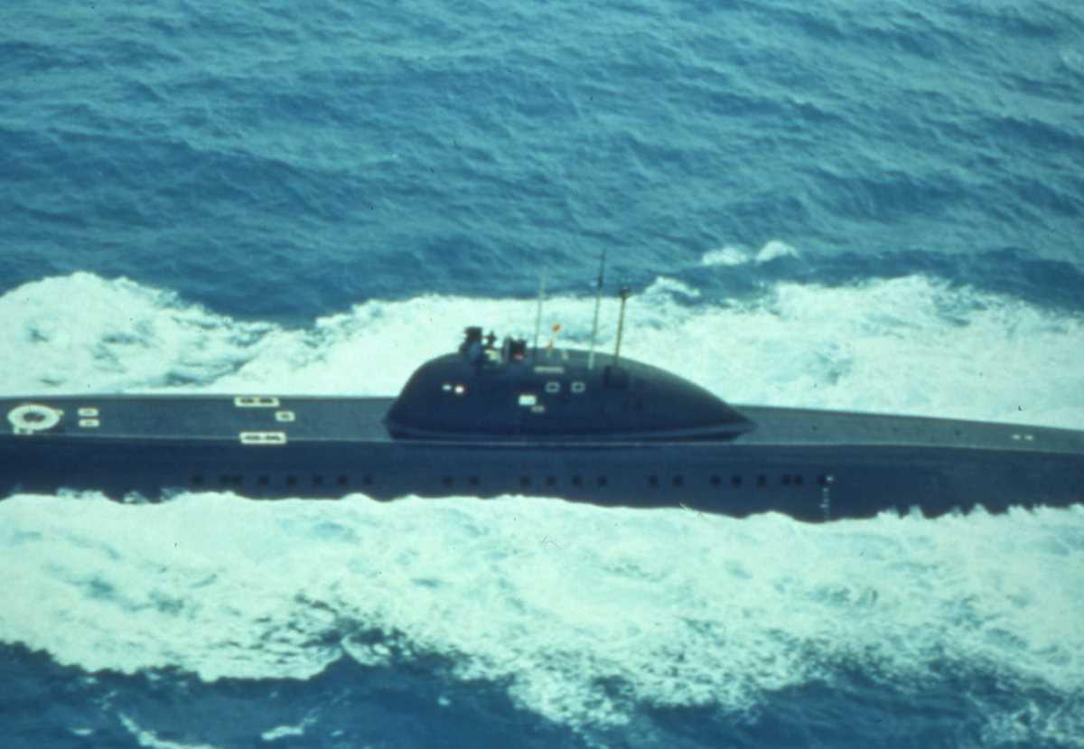 Russisk ubåt av Viktor - klassen.