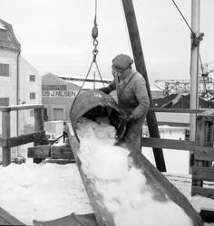 Is fra Møkkelandsvannet leveres ved kai hos Bertheus J. Nils