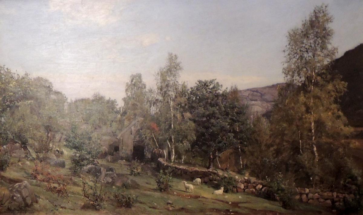 Steinur, sauer og skog.