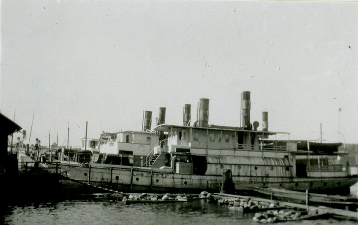 Passagerarfartyget BLIDÖ på Finnboda varv, Nacka 1927