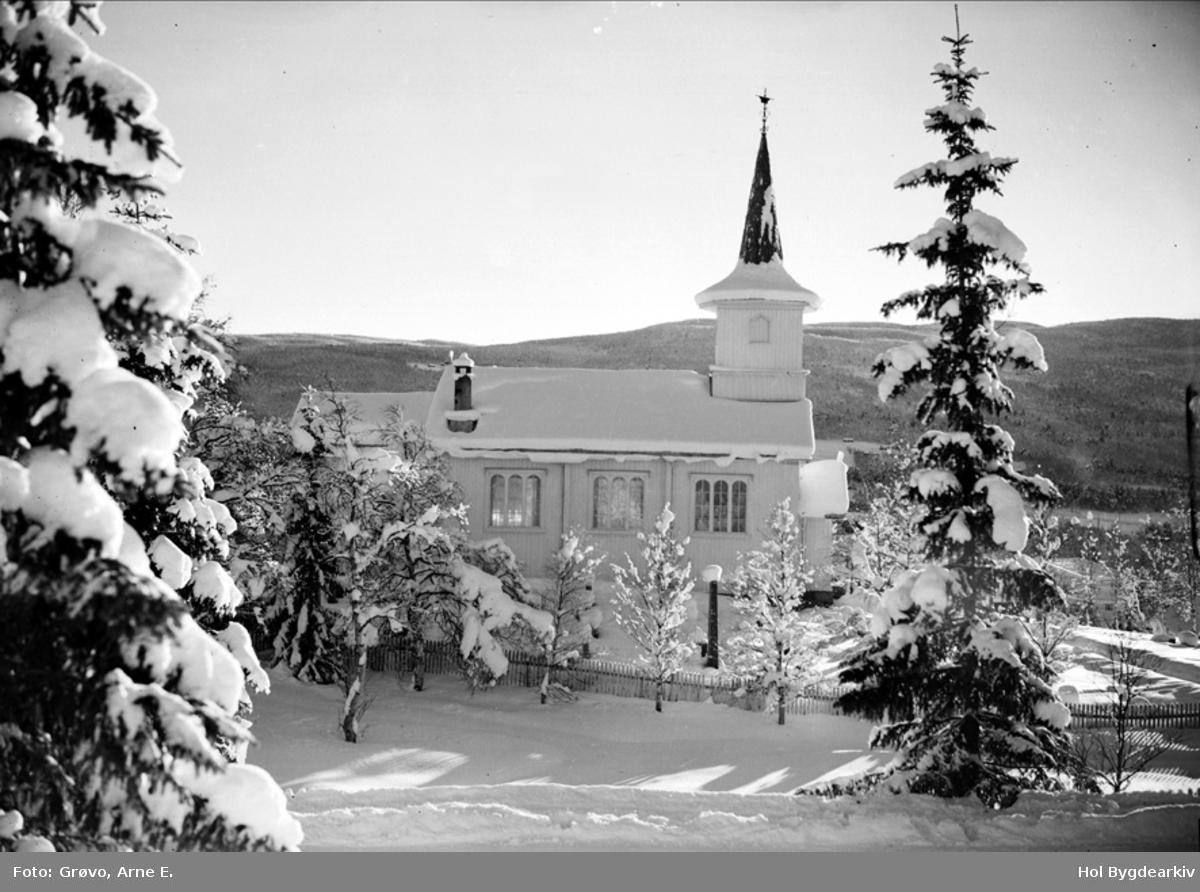 Kyrkje, Ustedalen kapell, Geilo kyrkje, vinter, kyrkjegard,