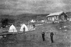 Støl, Osestølen, teltleir, stølsbu, Ustaoset, menn, stikking