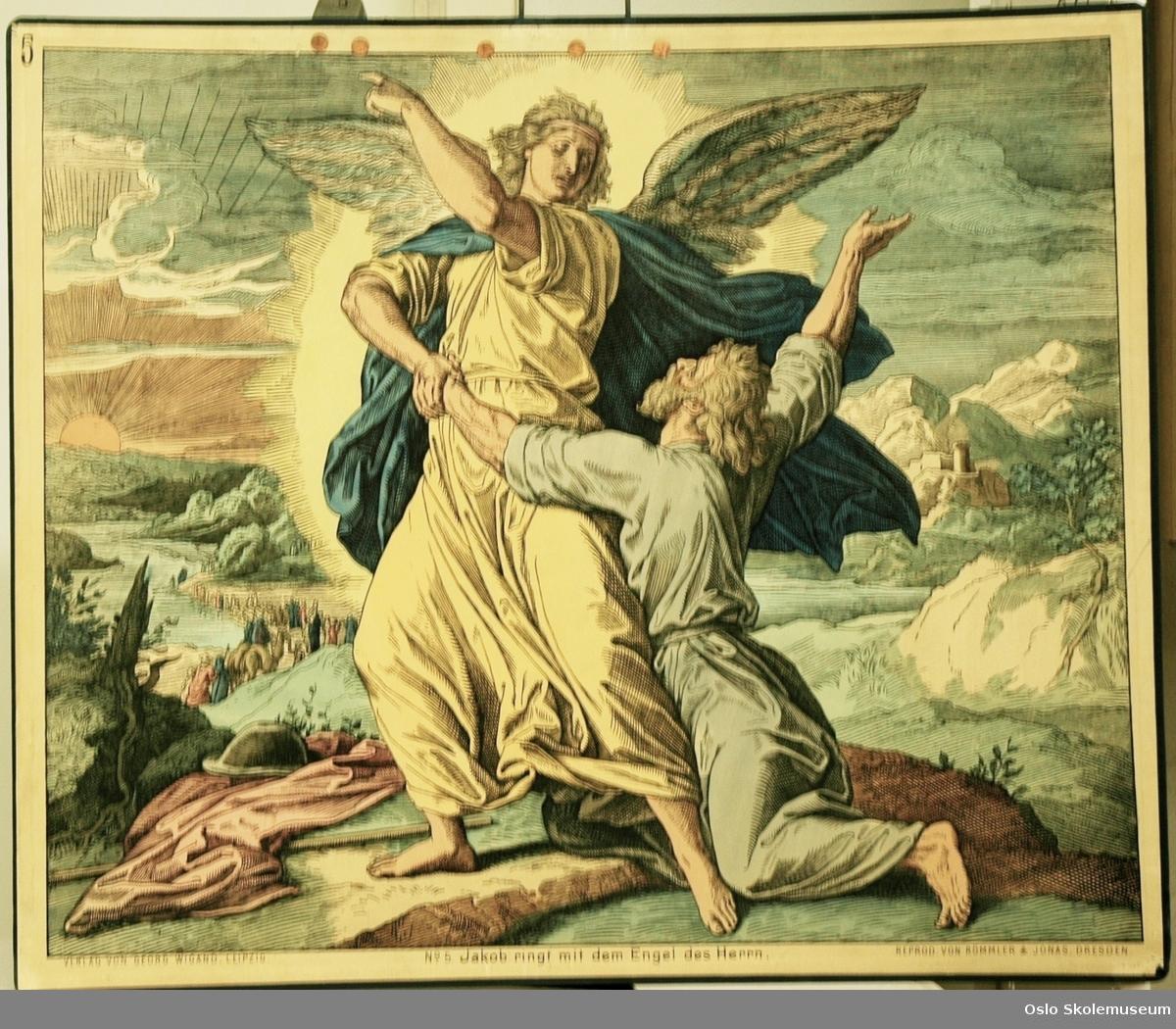 Bibelhistorie: Jakob kjemper med Herrens engel.