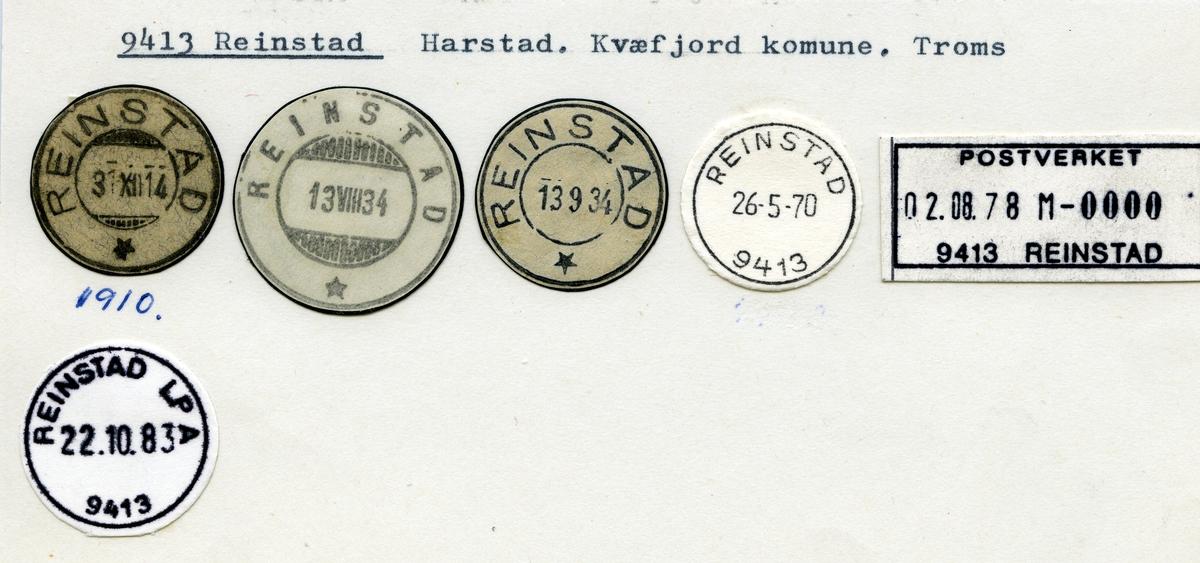 Stempelkatalog 9413 Reinstad, Harstad, Kvæfjord, Troms