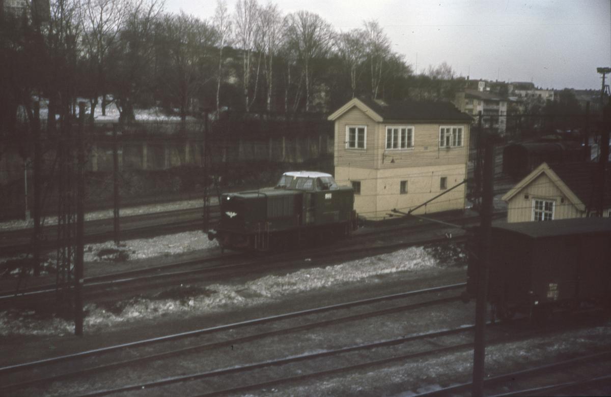 Skifting på Filipstad med diesellok type Di 2