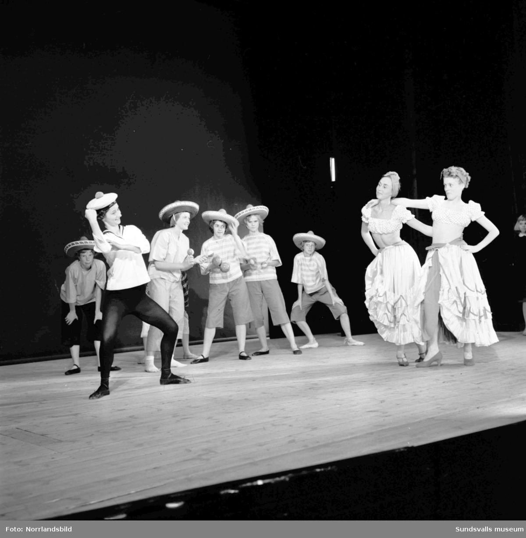 Baletträning på Sundsvalls teater.