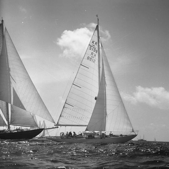 """""""Långedrag SS Lördagen 12/6 1954""""."""