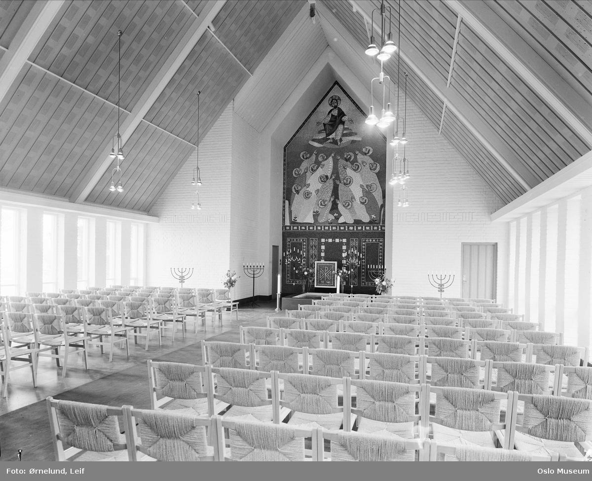 Asker kapell, interiør
