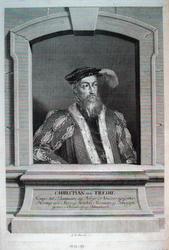 Portrett av Christian III, konge av Danmark og Norge [kobber