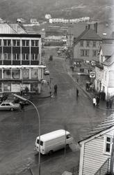 Odda - sentrum - innkjøring - isskruing