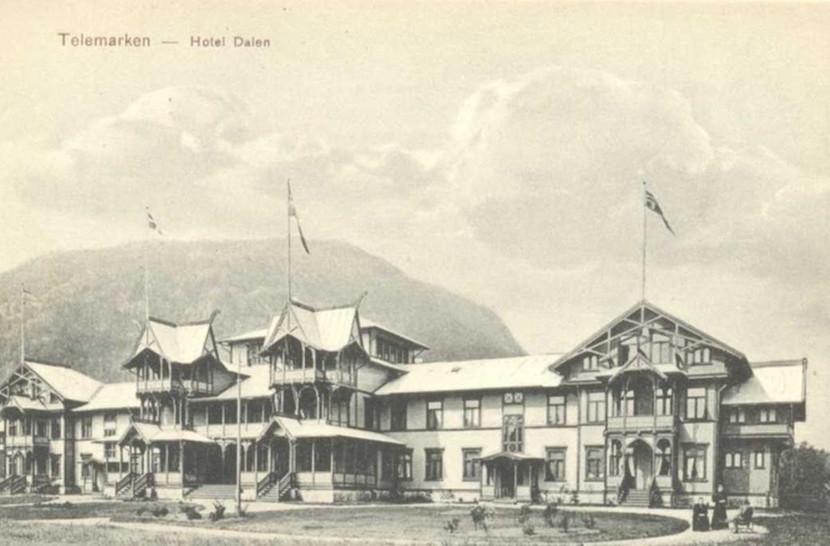 Hotel Dalen - Frå rundt 1910.