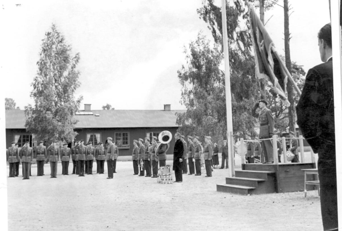 Fallskärmsjägarskolan i Karlsborg. Början 1950-tal.