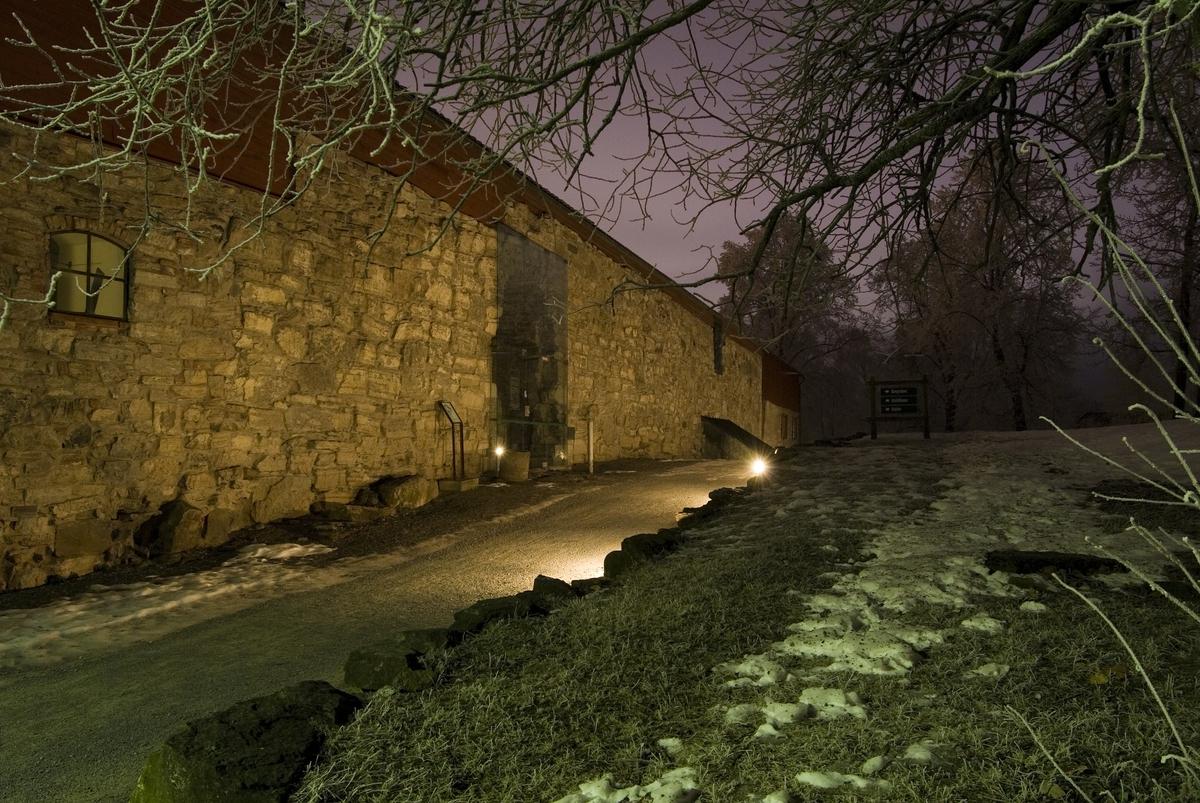 Julestemning ute på Domkirkeodden. Vinter, Juletre, Juletre med lys