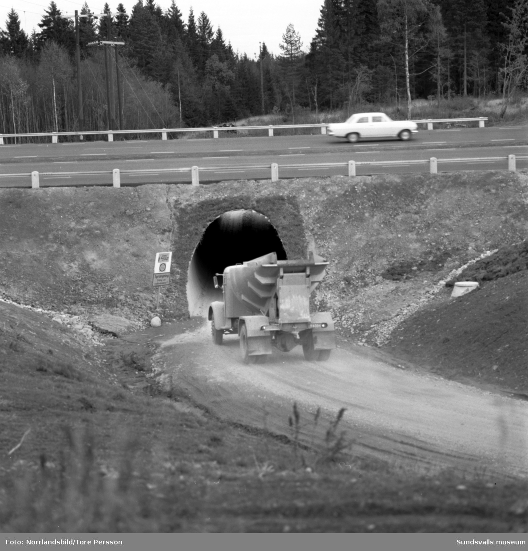 Första delen av nya E4, motorvägen från Bydalen till Birsta är klar. Delvis flygfoton.