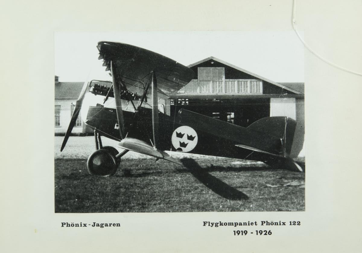 Inglasat foto på Phönix-Jagaren Flygkompaniet Phönix 122 1919-1926