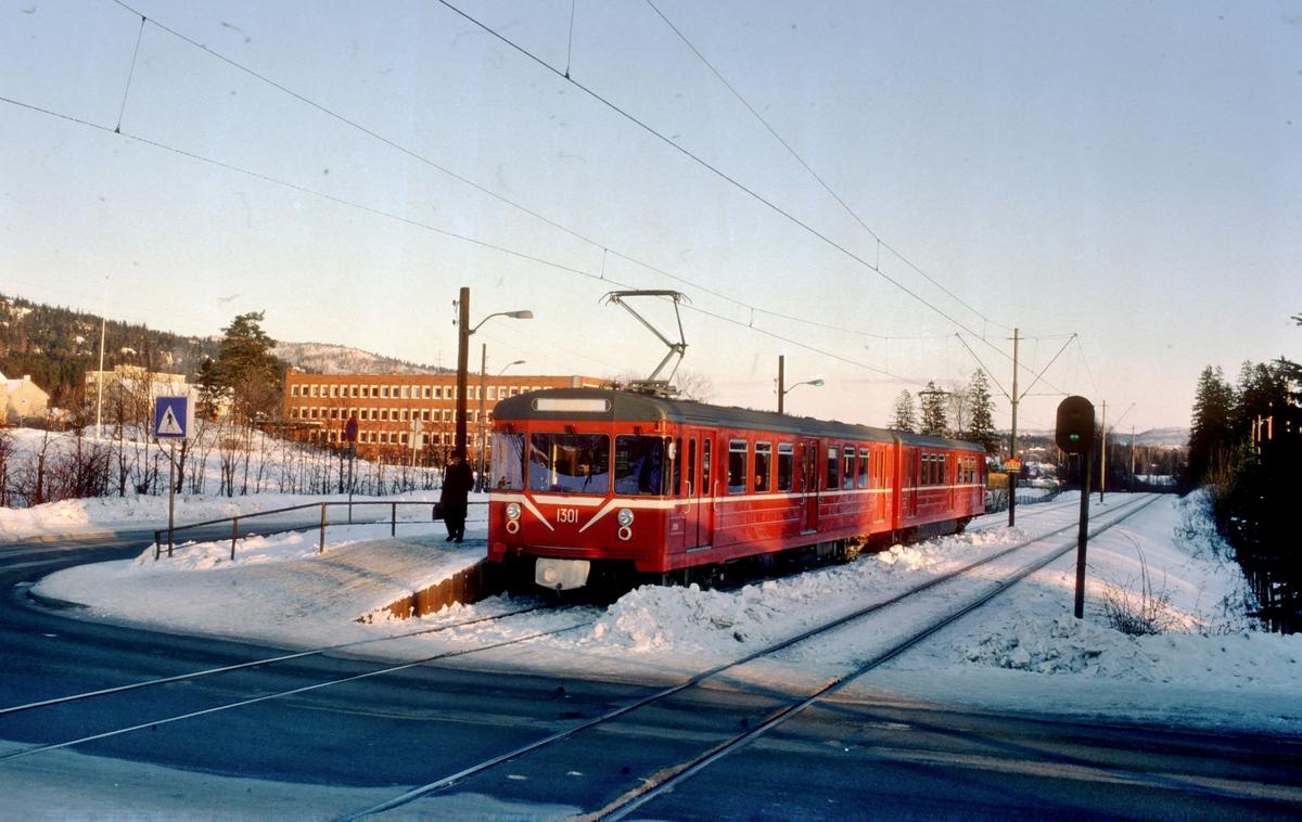 Oslo Sporveier. Røabanen.  Nye vogner 1301 og 1302 type T5.