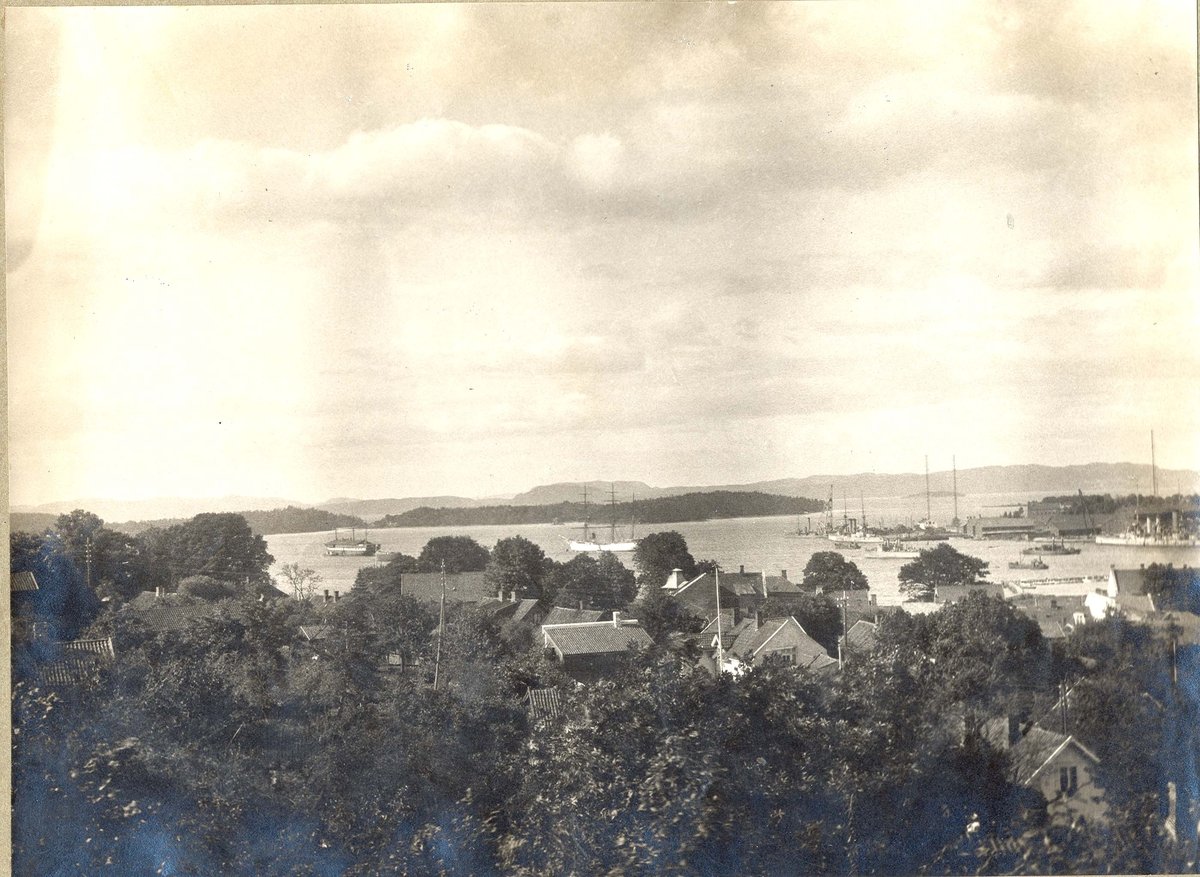 Motiv: Foto Horten Indre havn ca 1910