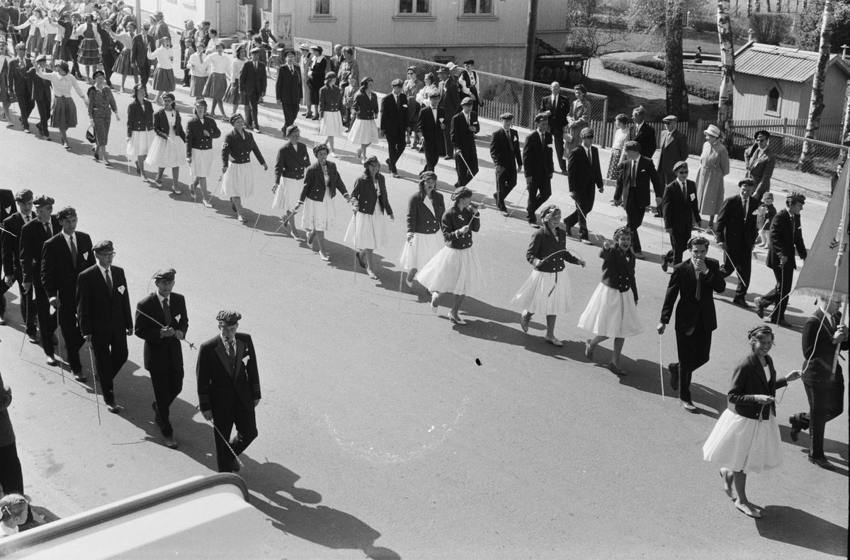 17. mai. Elverum. 1960. Storgata.