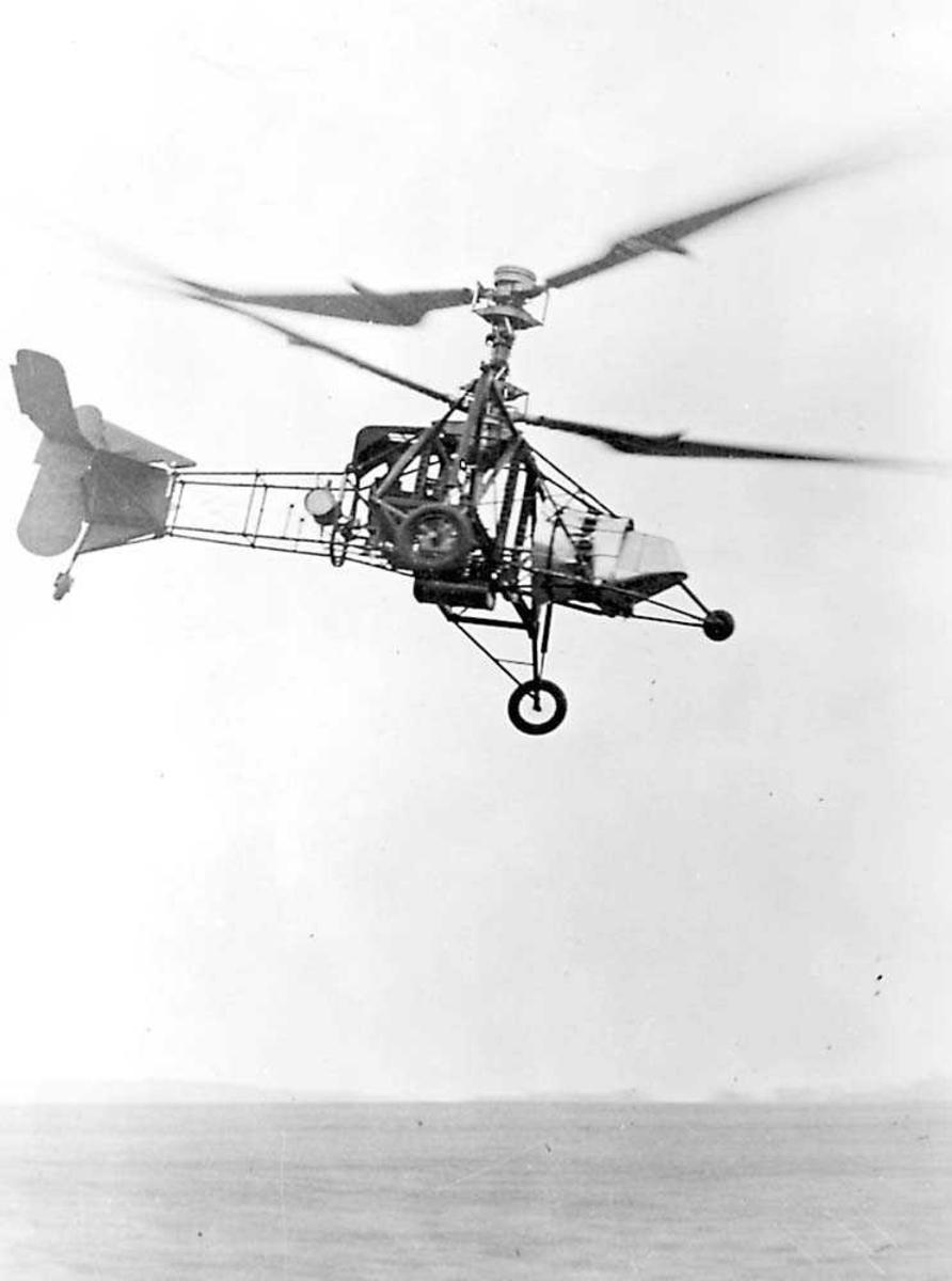 1 helikopter i luften. Breguet Gyroplane.