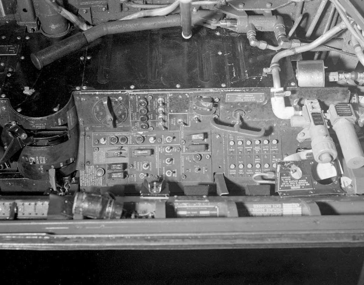 Instrumentpanelet til F-84-G.