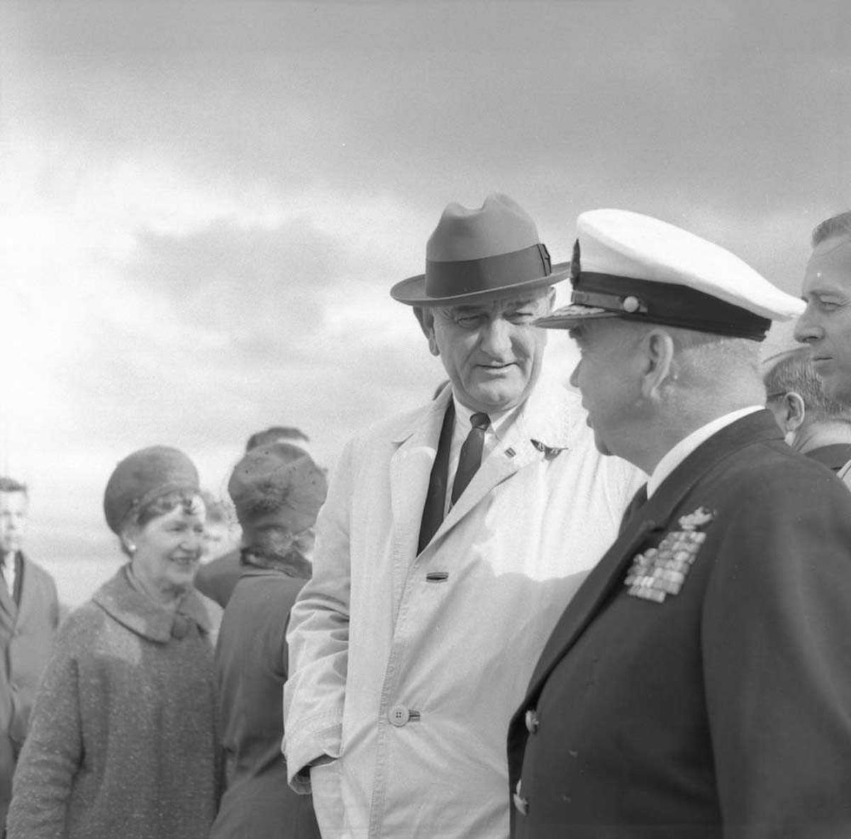 Den Amerikanske Visepresidenten Lyndon B. Johnson besøker Bodø.