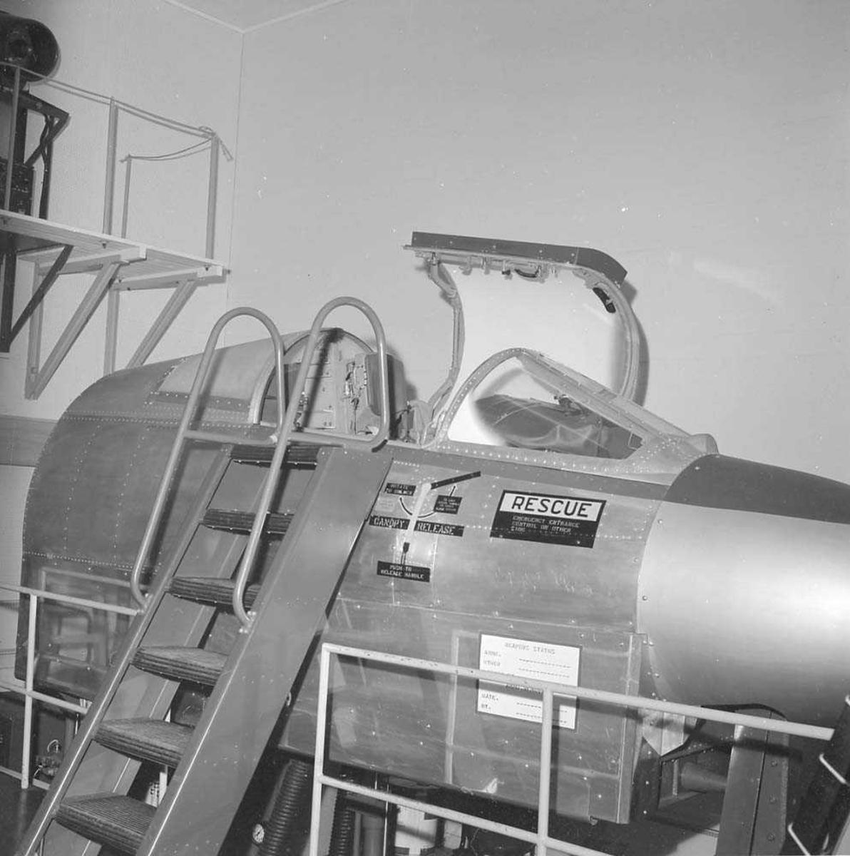 Flysimulator, F-104-G Starfighter, på Bodø flystasjon. Kom til Bodø i 1962 og ble utfaset i 1981.