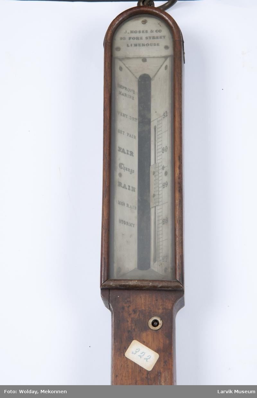 Kvikksølvbarometer med termometer
