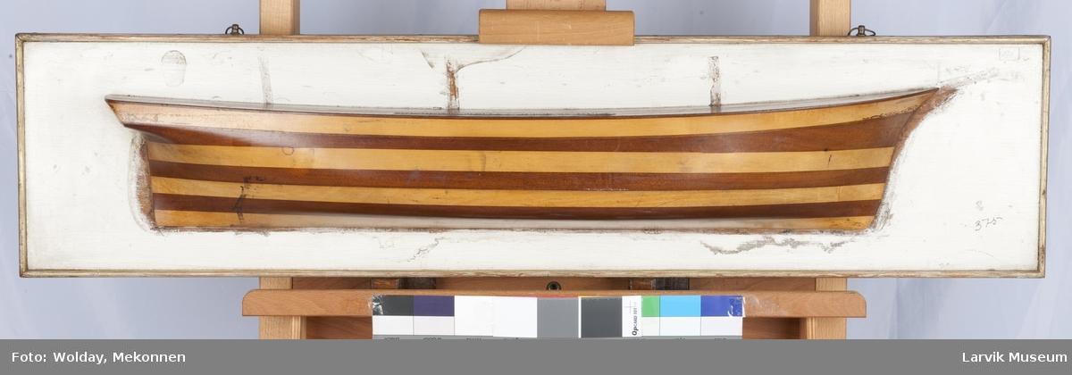 Modell av bark, 3 master