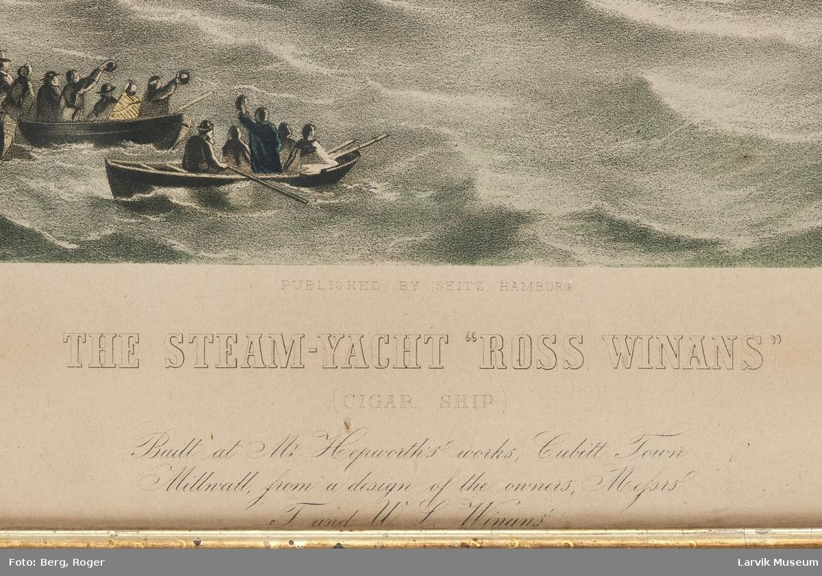"Dampskipet ""Ross Winans"", eng. cigarskip"