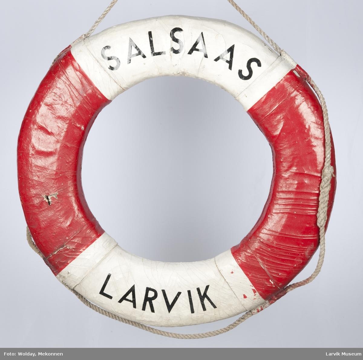 """Livbøye fra M/T """"Salsaas"""" av Larvik"""