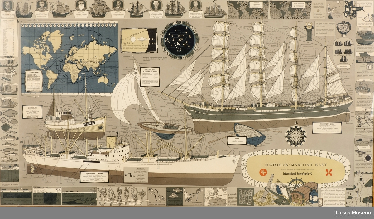 Plakat med maritime motiver