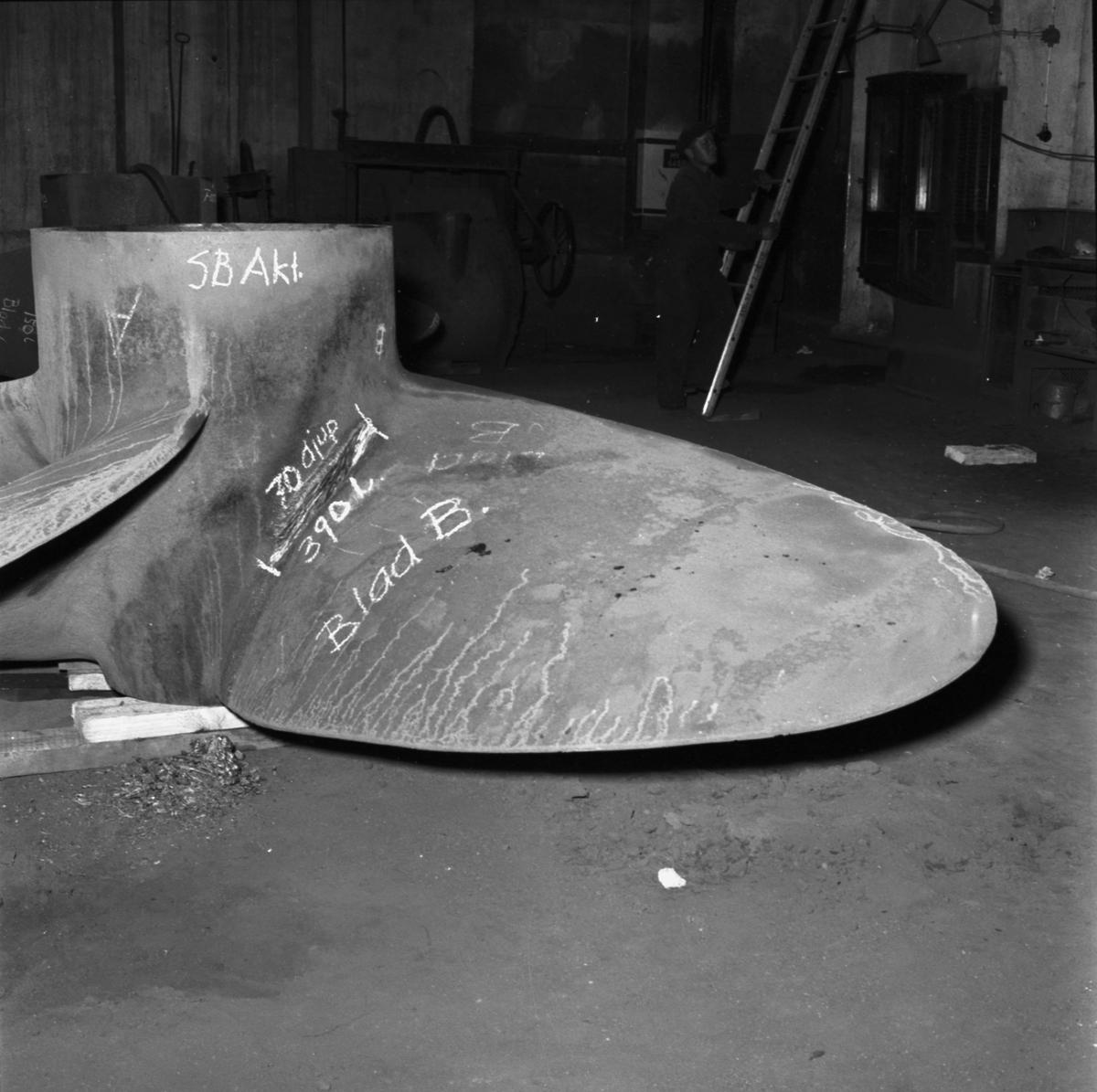 Fartyg: Thule.                          Rederi: Kungliga Flottan, Marinen Byggår: 1951 Varv: Örlogsvarvet, Karlskrona Övrigt: Propellerskada.