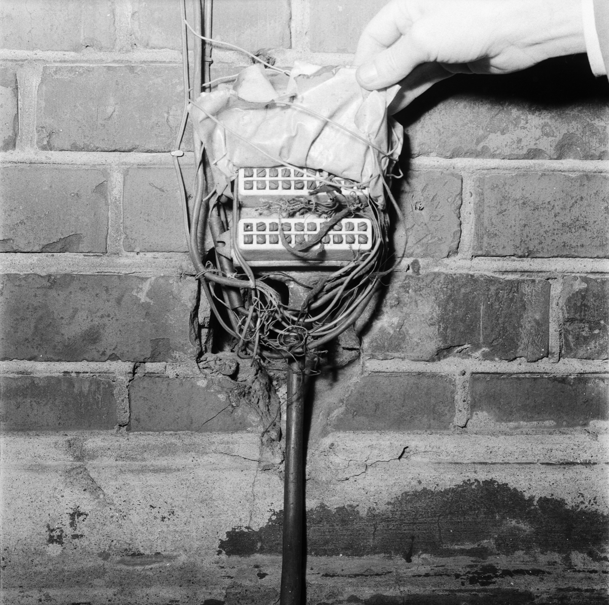 Övrigt: Foto datum: 14/1 1958 Byggnader och kranar Avd.63 elkopplingsanordning