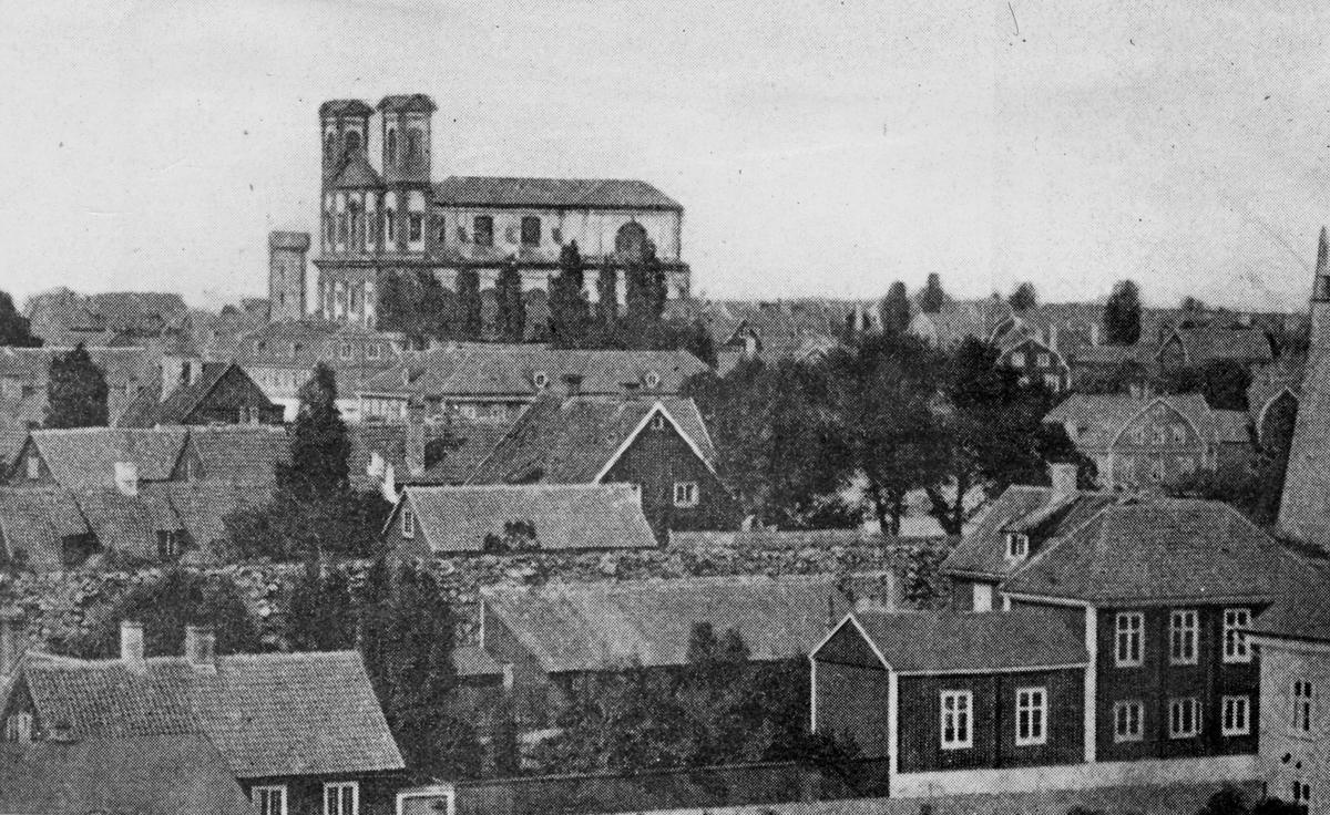 Utsikt över Karlskrona från sydväst 1873.