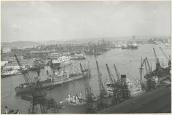 Hamnen sedd från Sjöfartskampanilen.