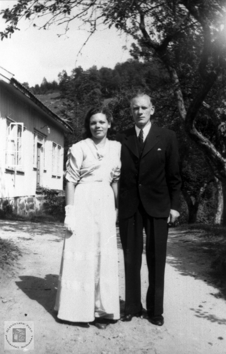 Ekteparet Kristine Olsdtr. Heddeland og Olav R Nome