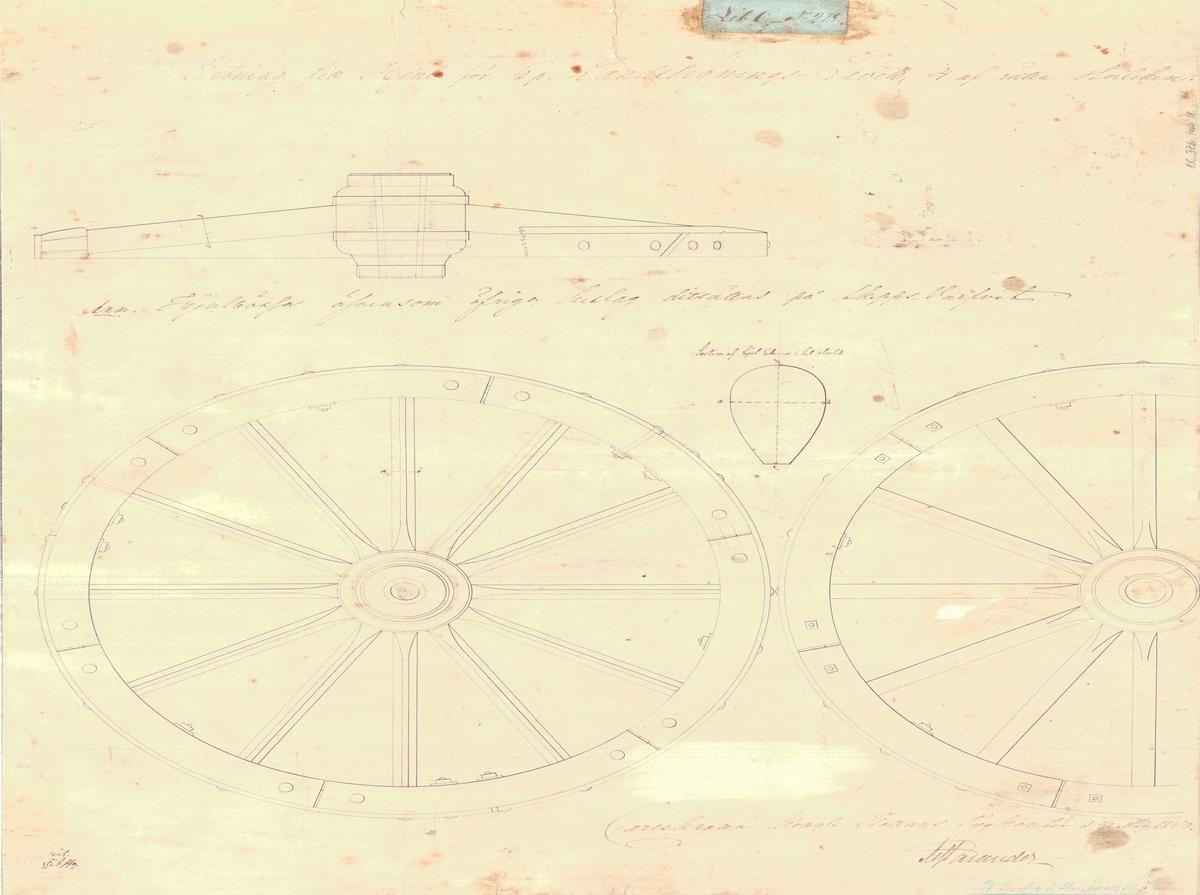 Ritning till hjul för 6 pundig landstigningslåda