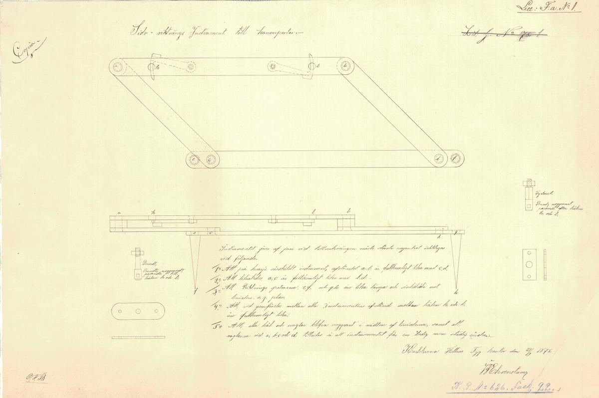 Sidoriktningsinstrument till kanonportar