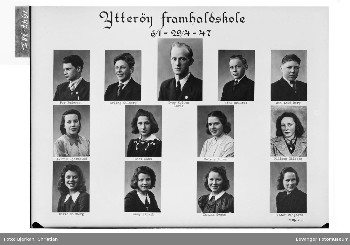 Ytterøy framhaldskole i 1947