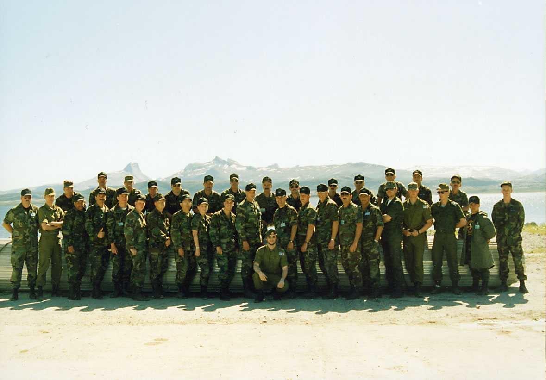 Gruppe. NATO befal og soldater på ADR kurs i Bodø.