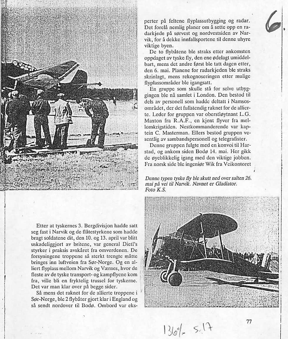 Lufthavn-flyplass. Gloster Gladiator.